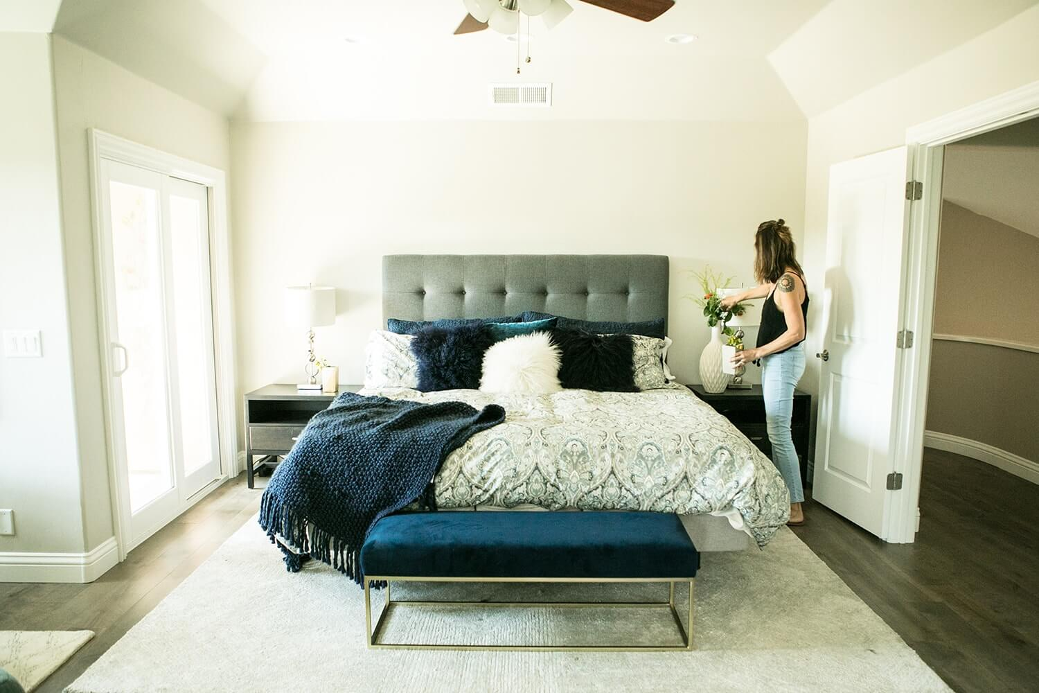 woman styling bedroom modern unsplash