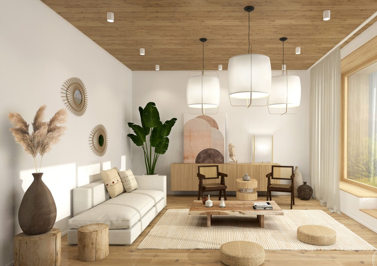 japandi style interior design living room